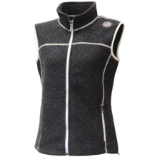 Ivanhoe Beata Vest - Boiled Wool (For Women) in Graphite Marl - Closeouts