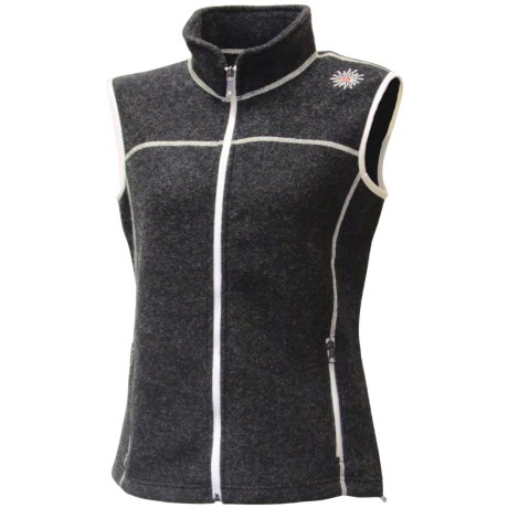 Ivanhoe Beata Vest - Boiled Wool (For Women) in Graphite Marl