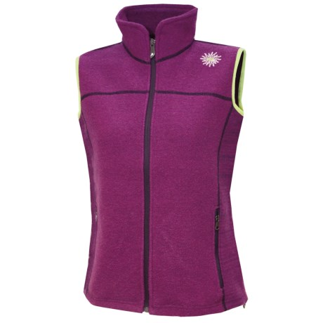 Ivanhoe Beata Vest - Boiled Wool (For Women) in Purple
