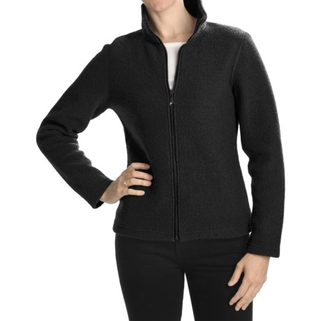 Ivanhoe Brodal Classic Jacket - Boiled Wool (For Women) in Black