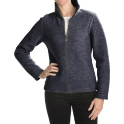 Ivanhoe Brodal Classic Jacket - Boiled Wool (For Women) in Navy
