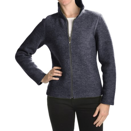 Ivanhoe Brodal Classic Jacket - Boiled Wool (For Women) in Graphite Marl