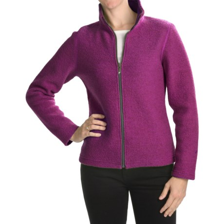 Ivanhoe Brodal Classic Jacket - Boiled Wool (For Women) in Purple