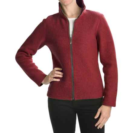 Ivanhoe Brodal Classic Jacket - Boiled Wool (For Women) in Red - Closeouts