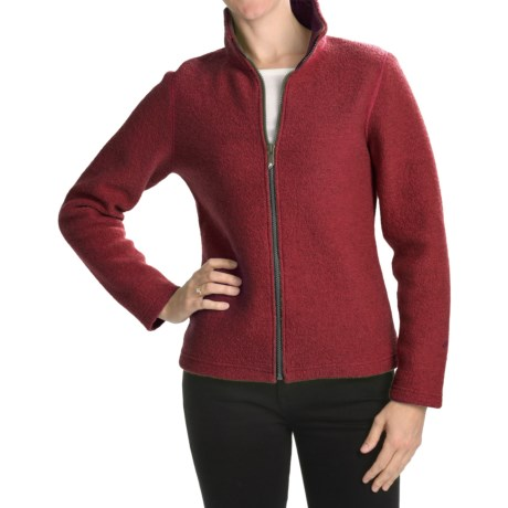 Ivanhoe Brodal Classic Jacket - Boiled Wool (For Women) in Red