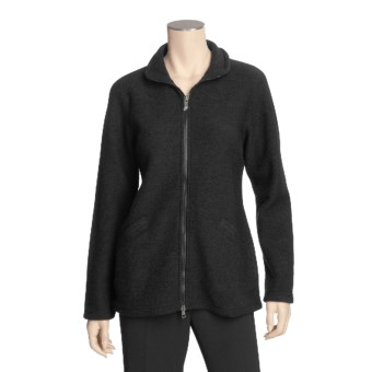 Ivanhoe Brodal Jacket - Boiled Wool (For Women) in Black