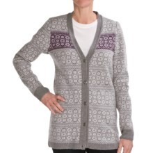 Ivanhoe Elsa Cardigan Sweater - Lambswool (For Women) in Grey - Closeouts