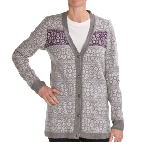 Ivanhoe Elsa Cardigan Sweater - Lambswool (For Women) in Grey