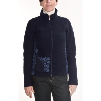 Ivanhoe Hanna Jacket - Boiled Wool (For Women) in Navy