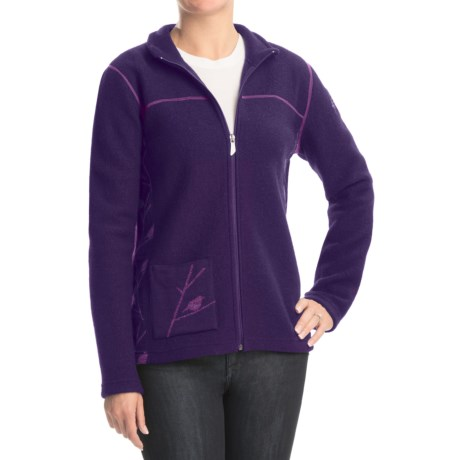 Ivanhoe Hope Jacket - Boiled Wool, Full Zip (For Women) in Grape