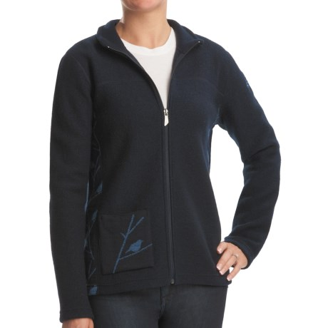 Ivanhoe Hope Jacket - Boiled Wool, Full Zip (For Women) in Navy