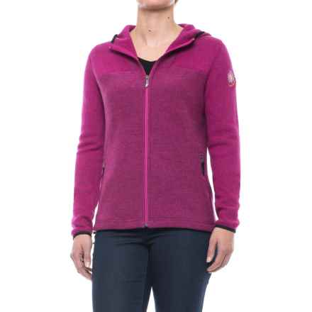 Ivanhoe of Sweden Anastasia Hooded Jacket - Boiled Wool (For Women) in Cerise - Closeouts