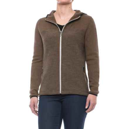 Ivanhoe of Sweden Anastasia Hooded Jacket - Boiled Wool (For Women) in Dark Khaki - Closeouts
