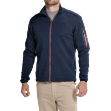 Ivanhoe of Sweden Assar Jacket- Merino Wool, Full Zip (For Men) in Steel Blue - Closeouts