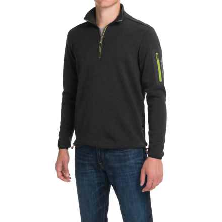 Ivanhoe of Sweden Assar Pullover Sweater - Zip Neck, Merino Wool (For Men) in Black - Closeouts