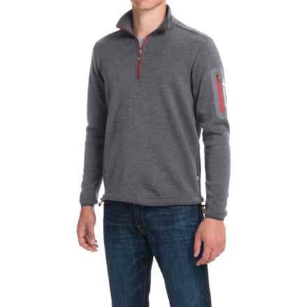 Ivanhoe of Sweden Assar Pullover Sweater - Zip Neck, Merino Wool (For Men) in Grey - Closeouts