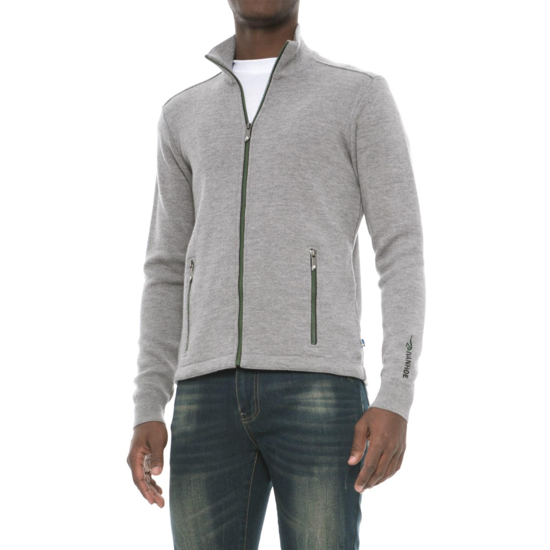 Ivanhoe of Sweden Assar Sweater- Merino Wool, Full Zip (For Men ...