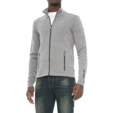 Ivanhoe of Sweden Assar Sweater- Merino Wool, Full Zip (For Men) in Grey Marl - Closeouts
