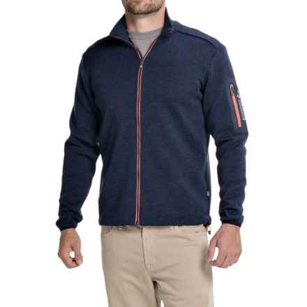 Ivanhoe of Sweden Assar Sweater- Merino Wool, Full Zip (For Men) in Steel Blue - Closeouts