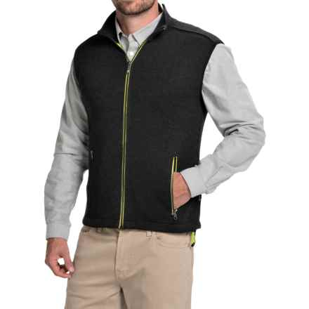 Ivanhoe of Sweden Assar Vest - Merino Wool, Full Zip (For Men) in Black - Closeouts