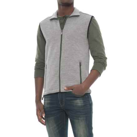 Ivanhoe of Sweden Assar Vest - Merino Wool, Full Zip (For Men) in Grey Marl - Closeouts