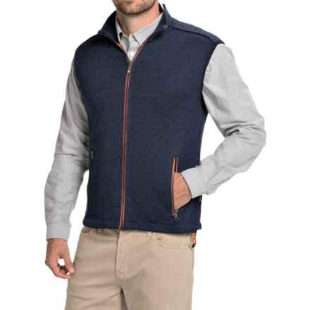 Ivanhoe of Sweden Assar Vest - Merino Wool, Full Zip (For Men) in Steel Blue - Closeouts