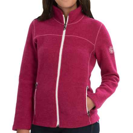 Ivanhoe of Sweden Beata Boiled Wool Jacket (For Women) in Cerise - Closeouts