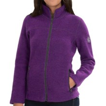Ivanhoe of Sweden Beata Boiled Wool Jacket (For Women) in Dark Purple - Closeouts