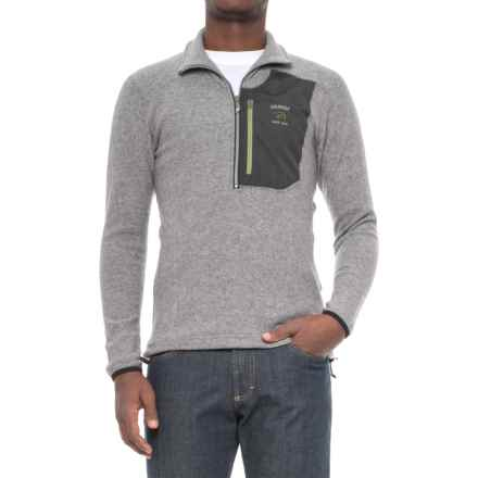 Ivanhoe of Sweden Carve Wool Sweater - Zip Neck (For Men) in Grey Marl - Closeouts