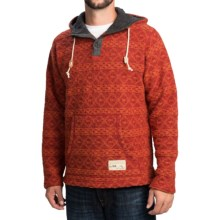 Ivanhoe of Sweden Chris Hoodie - Boiled Wool (For Men) in Orange - Closeouts