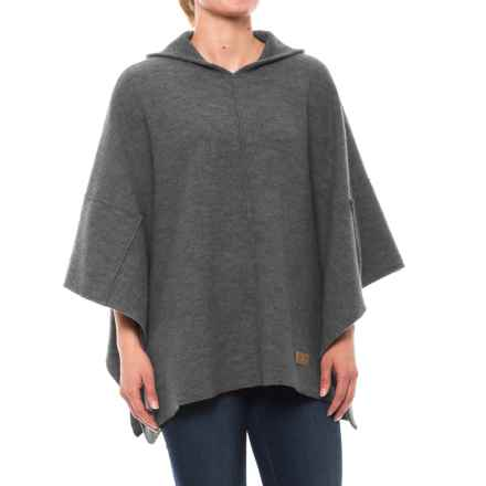 Ivanhoe of Sweden GY Backa Poncho - Boiled Wool (For Women) in Grey - Closeouts