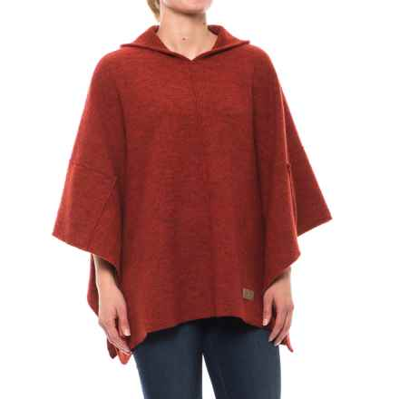 Ivanhoe of Sweden GY Backa Poncho - Boiled Wool (For Women) in Orange - Closeouts