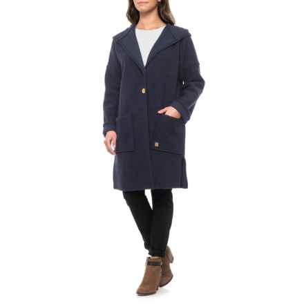 Ivanhoe of Sweden Gy Duffy Wool Coat (For Women) in Light Navy - Closeouts