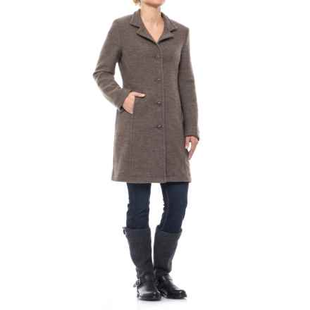 Ivanhoe of Sweden GY Rybo Coat - Boiled Wool (For Women) in Dark Khaki - Closeouts