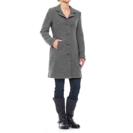 Ivanhoe of Sweden GY Rybo Coat - Boiled Wool (For Women) in Grey - Closeouts
