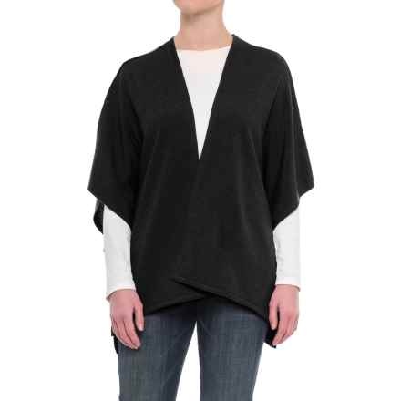 Ivanhoe of Sweden GY Ulva Open Poncho - Merino Wool (For Women) in Black - Closeouts