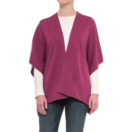 Ivanhoe of Sweden GY Ulva Open Poncho - Merino Wool (For Women) in Raspberry - Closeouts