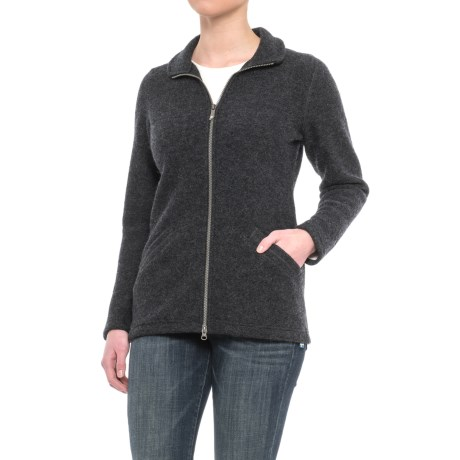 Ivanhoe of Sweden Ivanhoe Brodal Jacket - Boiled Wool (For Women) in Graphite Marl