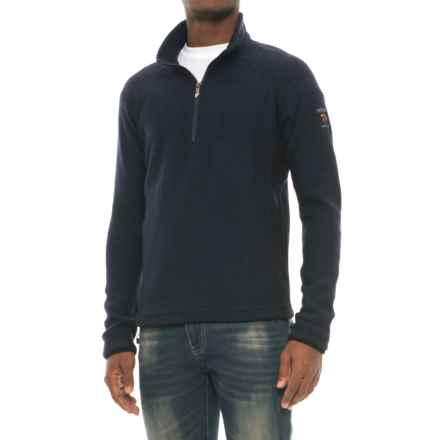 Ivanhoe of Sweden Kaj Sweater - Boiled Wool, Zip Neck (For Men) in Armiral - Closeouts