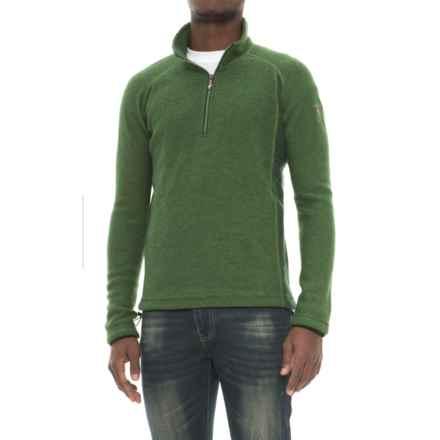Ivanhoe of Sweden Kaj Sweater - Boiled Wool, Zip Neck (For Men) in Forest Green - Closeouts