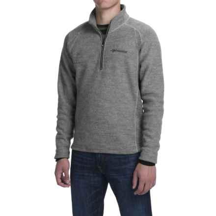 Ivanhoe of Sweden Kaj Sweater - Boiled Wool, Zip Neck (For Men) in Grey - Closeouts