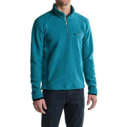 Ivanhoe of Sweden Kaj Sweater - Boiled Wool, Zip Neck (For Men) in Turquoise - Closeouts