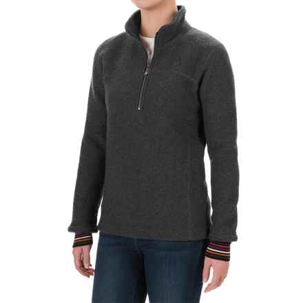 Ivanhoe of Sweden Mette Jacket - Zip Neck, Boiled Wool (For Women) in Graphite Marl - Closeouts