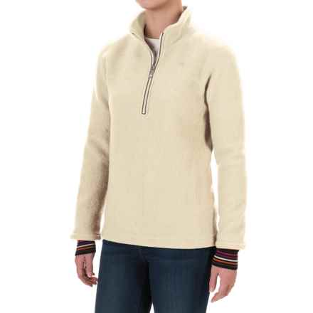 Ivanhoe of Sweden Mette Pullover Jacket - Zip Neck, Boiled Wool (For Women) in Off White - Closeouts