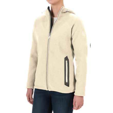 Ivanhoe of Sweden Noomi Windbreaker Jacket - Boiled Wool (For Women) in Off White - Closeouts