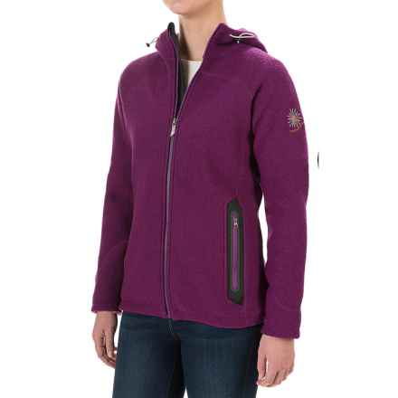 Ivanhoe of Sweden Noomi Windbreaker Jacket - Boiled Wool (For Women) in Purple - Closeouts
