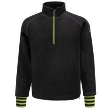 Ivanhoe of Sweden Rune Boiled Wool Sweater - Zip Neck (For Men) in Black - Closeouts