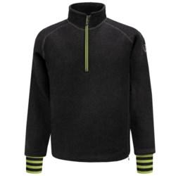Ivanhoe of Sweden Rune Boiled Wool Sweater - Zip Neck (For Men) in Forest Green