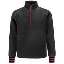 Ivanhoe Rune Boiled Wool Sweater - Zip Neck (For Men) in Graphite Marl - Closeouts