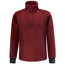 Ivanhoe Rune Boiled Wool Sweater - Zip Neck (For Men) in Red - Closeouts